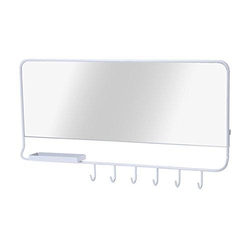 Leitmotiv LM954 Mirror-Me Miroir avec Structure Métallique Blanc