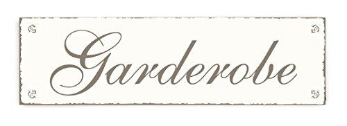 GARDEROBE Türschild Shabby Vintage Look - ca. 20 x 6 cm