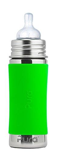 Pura kiki Babyflasche Edelstahl Grün 325 ml Plastikfrei Schadstofffrei