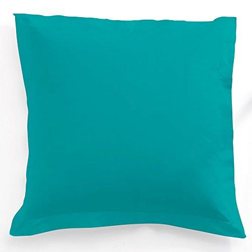 Taie d'oreiller 75x75cm(pour oreiller 60x60) 100% coton 57fils MER DU SUD - Collection TODAY IDHOUSSE