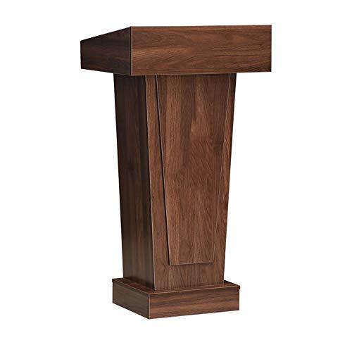 Hablando Atril Atril Podio Iglesia Púlpito o Ceremonia Aula de Conferencias de Voz Teach Plataforma Permanente marrón para Salas de conferencias, Salas de reuniones
