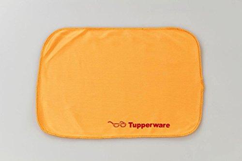 TUPPERWARE FaserPro Durchblick orange T18 Brillenputztuch Putztuch Brille Handy 17250