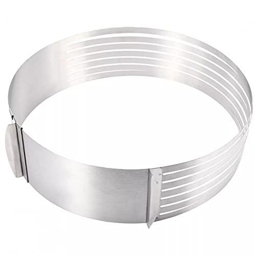 JUQIAO Juego de herramientas para hornear con capa ajustable de acero inoxidable de 9,8 a 11,8 pulgadas
