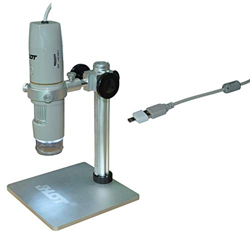 OMJNH Microscopio polarizado, microscopio electrónico de microscopio Digital de 5 Millones de 1-500X USB HD
