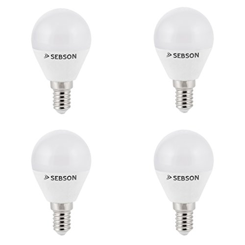 SEBSON® LED Lampe E14 Tropfen 6W warmweiß 3000k, ersetzt 35W, 400lm, Ra97, 230V LED Leuchtmittel flimmerfrei, E14 Birne P45, 4er Pack