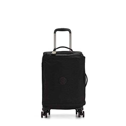 Kipling Spontaneous Softside Spinner Wheel Luggage, Black Noir, Carry-On 21-Inch