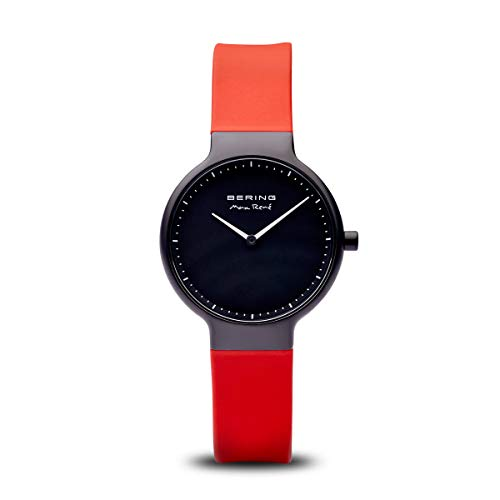 BERING Damen Analog Quarz Uhr mit Silikon Armband 15531-523