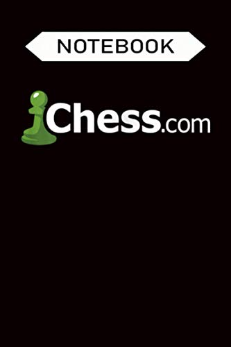 Notebook: Chess.com Classic Logo Online Chess Site Fan - Dark, Journal 6 x 9, 100 Page Blank Lined Paperback Journal Composition Notebook Diary