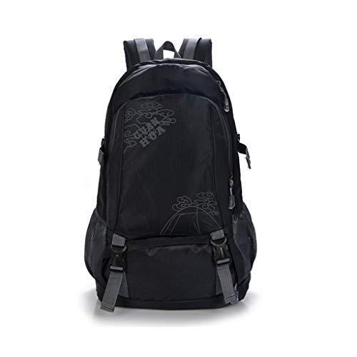 Mochila de Senderismo 40LBackpack, Mochila de Viaje al Aire Libre Impermeable para Hombres Mochila de Alpinismo con Bolsa de Senderismo al Aire Libre 40L (Color : Negro)