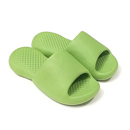 HOMHH Pantuflas de almohada, EVA antideslizantes con puntera abierta, suaves, zapatillas para el hogar súper suaves para mujeres y hombres
