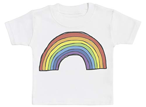 Rainbow Baby T-Shirt, Baby Tee, Baby Tshirt, Baby Boy T-Shirt, Baby Girl T-Shirt - 1-2 Years White