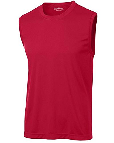 Clothe Co. Men's Sleeveless Moisture Wicking Muscle Shirt