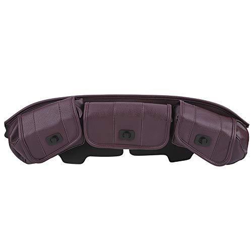 Sillín para parabrisas, alforja para parabrisas, 3 bolsas de cuero de PU de estilo distintivo para triciclo de 7 pulgadas para uso en triciclo FLHT(brown)