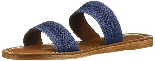 Bella Vita Women's Bella Vita Imo-Italy slide sandal Shoe, Navy Woven, 10 M US