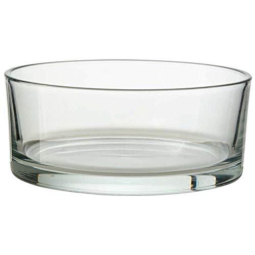 Annastore 4 x Glasschale klar H 8 cm Ø 15 cm Dekoschale Schale aus Glas - Runde Glas Schale - Dekoschale