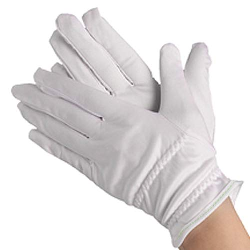 Dexac Microfiber Gloves Scratches Fingerprints (White) Protection for Jewelry Collectibles Lenses Coin Silver Archival Costume Inspection