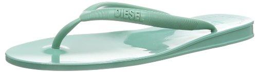 Diesel Summer Landy Flippy, Chanclas Mujer, Winter Green T 7247, 40