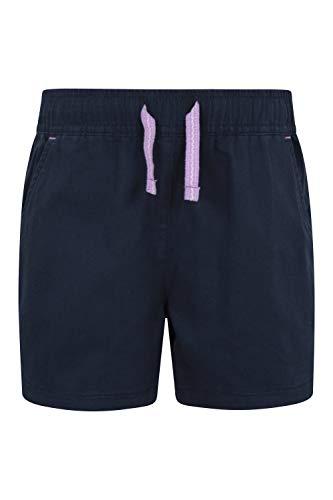 Mountain Warehouse Waterfall Shorts für Mädchen - Baumwollshorts, Kinder Kurze Hose, atmungsaktive Urlaubsshorts, Pflegeleichte Hose - Lässige Kleidung für die Reise Marineblau 152 (11-12 Jahre)
