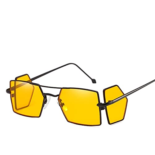 Gafas De Sol Cuadradas con Parte Superior Plana para Hombre, Mujer, Espejo, Moda para Mujer, Gafas Uv400, Gafas De Sol Negras, Gafas De Estrella, Lentes De Sol Hombre