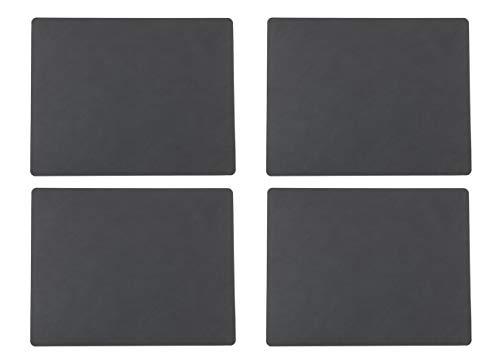 Lind DNA Tischset Square L - Nupo - 4er Set (Square anthrazit)