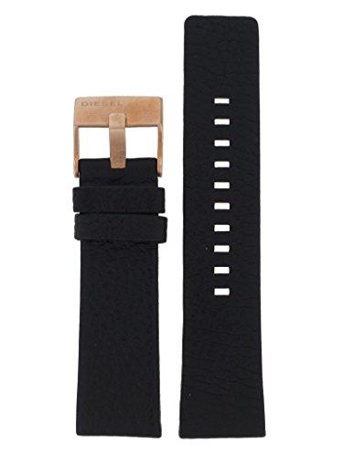 Diesel Correa de reloj intercambiable LB-DZ4297, correa de repuesto original DZ 4297, correa de piel 24 mm, color negro