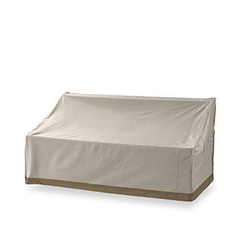 Lumaland Abdeckung für 3-Sitzer-Bank Gartenbank 158 x 83 x 45/81 cm robuste Schutzhülle für Gartenmöbel Oxford 600D 280 g/m² Wasserdicht Witterungsbeständig Winterfest in Beige