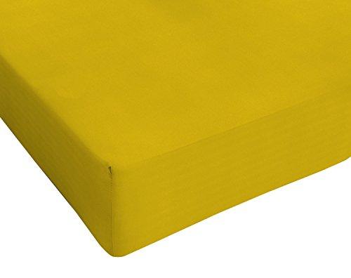 Italian Bed Linen, Max Color, Lenzuolo sotto, Senape, 1 Posto e Mezzo Francese
