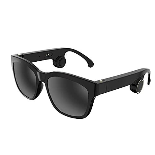 SXFJF Gafas De Conducción Ósea Bluetooth 5.0 Gafas De Audio Inteligentes Auriculares Abiertos para Hombres Y Mujeres, Conectar Teléfonos Móviles Y Tabletas, IP55 Impermeable