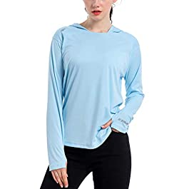 Women's UPF 50+ UV Sun Protection Hoodie Shirt Dry Fit...