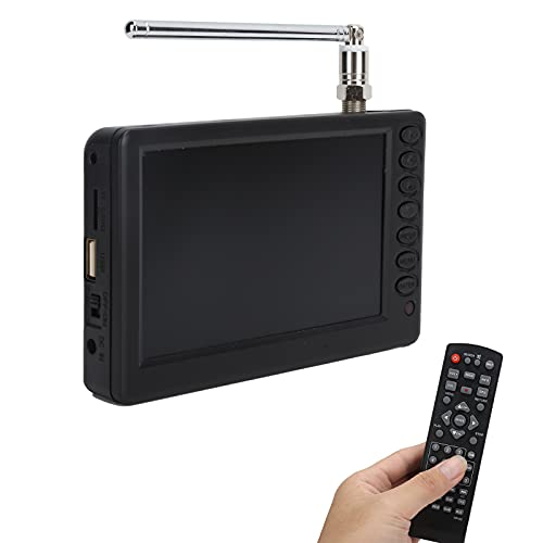 LEADSTAR TV LCD de Pantalla Ancha portátil de 5'con Antenas Desmontables, Ranura para Tarjeta USB/SD, TV Digital estéreo de Alta sensibilidad 1080P, TV Digital portátil para Coche, Camping, Cocina