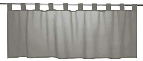 Elbersdrucke Basic 07 Bistrogardine, Polyester, grau, 48 x 140 cm