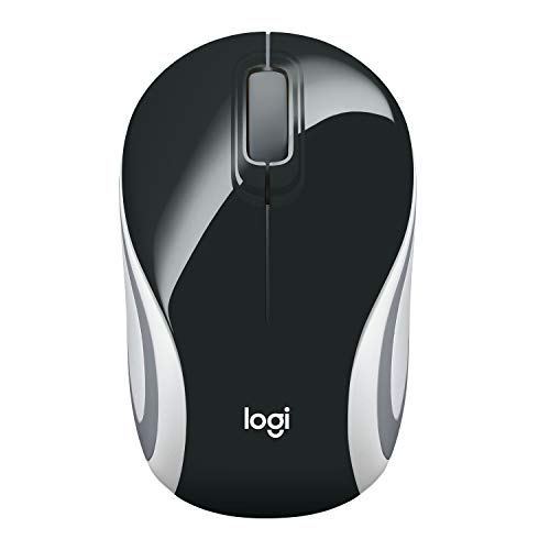 Logitech M187 Mouse Wireless Tascabile Compatto, 2.4 GHz con Ricevitore USB, Rilevamento ‎Ottico 1000 DPI, 3 Pulsanti, PC/Mac/Laptop, Nero