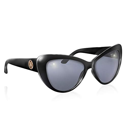 Campbell Naomi Collection Cat Eye - Gafas de sol para mujer, color negro
