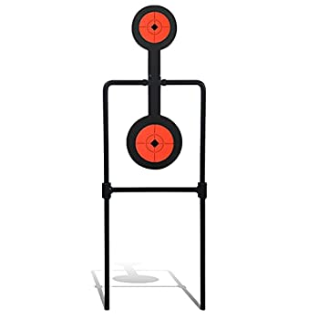 Highwild Double Spinner Shooting Targets - Auto Reset Steel Target - for Centerfire Handguns Up to .44 Magnum