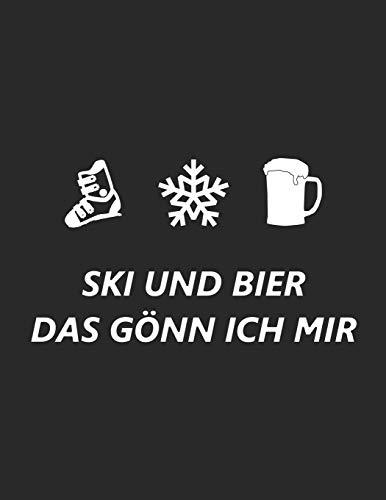 Trainingsbuch für Skifahrer: Stetige Verbesserung mit diesem Trainigstagebuch ♦ Vorlage für über 100 Trainigstage ♦ Planen, üben, umsetzen ♦ A4+ Format ♦ Motiv: Ski und Bier