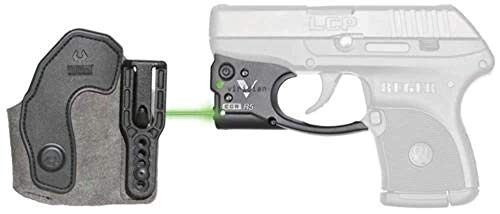 VIRIDIAN WEAPON TECHNOLOGIES, Reactor 5 Gen II Green Laser, Ruger LCP with ECR Instant On IWB Holster, Black