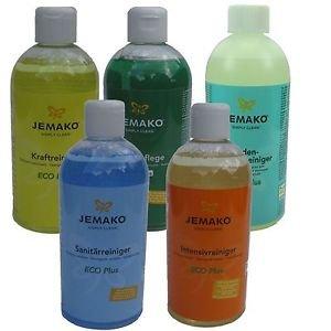 Jemako 5-teiliges Set mit Flüssigreiniger - insgesamt 2,50 Liter (1 Liter/13,44 Euro)