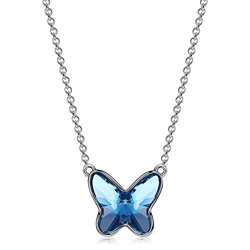 Sellot Collares Mujer, Regalos Originales para Mujer, Serie Sueño de Mariposa, Collar con Colgante...