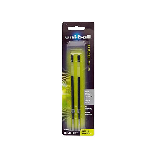 Uni-Ball 74396PP uni-ball Jetstream Ballpoint Pen Refills Bold Point 10mm Black 2 Count