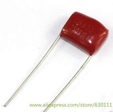 50 piezas condensador CBB 250 V 104J 100NF 0,1 UF 104 P = condensadores de película de polipropileno de 10 mm
