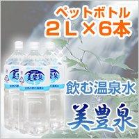 鹿児島 垂水の飲む 温泉水 美豊泉 (びほうせん)2リットルペットボトル×6本