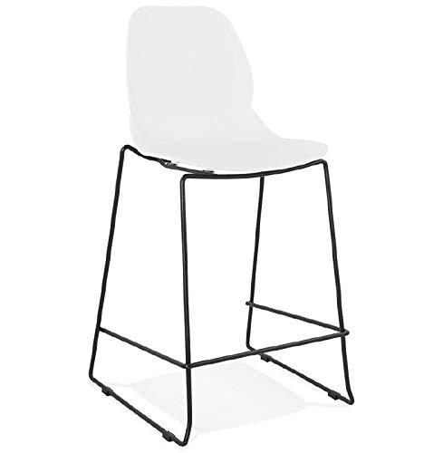 MK Bar-Stuhl Barhocker industrielle stapelbar Halbhohe Juliette Mini (weiß)