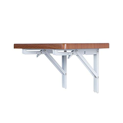 PULLEY -S składane wsporniki mocowane na ścianie, drewniane ściany, krzesła do jadalni, małe mieszkanie, proste biurko komputerowe, stół do jadalni S (rozmiar: 50 x 31 cm)