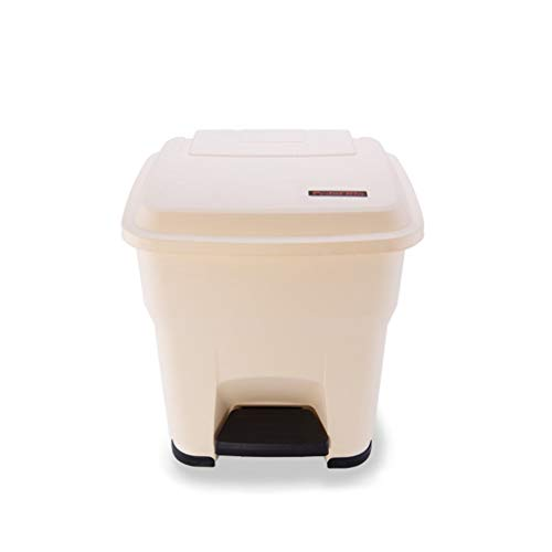 ZWD Medische Trash Can, effen kleur plastic vuilnisbak kunnen grote Outdoor Recycling Cleaning Box Thicken pedaalemmer Verzameling (Size : White 30L)