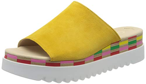 Gabor Shoes Gabor Casual, Mules Femme, Jaune (Sun (Multic.) 13), 41 EU