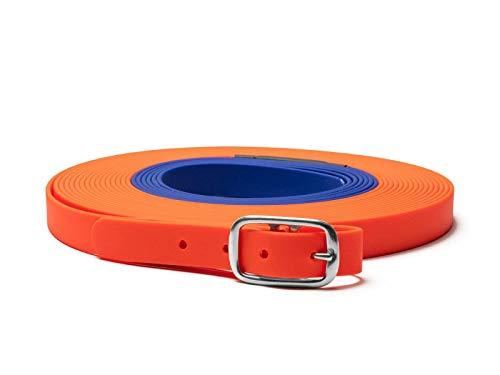 Mystique Biothane beta Schweißriemen 19mm orange-blau 6m