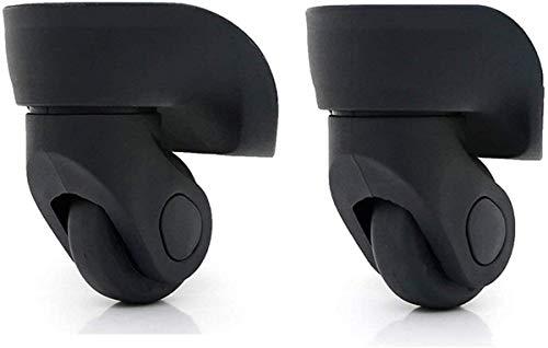 1 ペア スーツケースに使える代用品 交換 ホイール静音 キャスター スーツケースキャリーボックスなどの車輪補修用 取替え 代用品 取替え DIY トラベルバッグラゲッジ修理 交換 (W041-2 大きい 黒い)