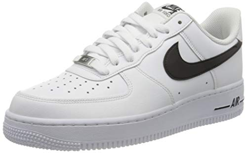 Nike Herren Air Force 1 '07 An20 Basketballschuh, White Black, 42.5 EU