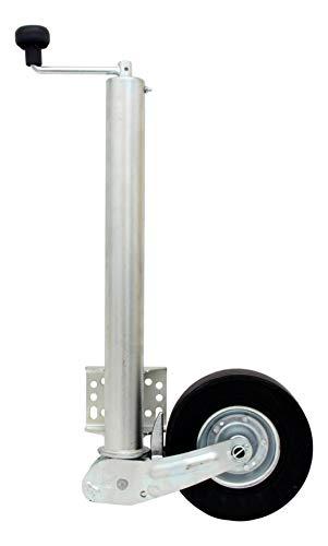 p4U Hochwertiges Winterhoff Automatik Stützrad mit Universalflansch extra langmax. Stützlast: 500 kg für PKW Anhänger VK 60-BLH-255 SB