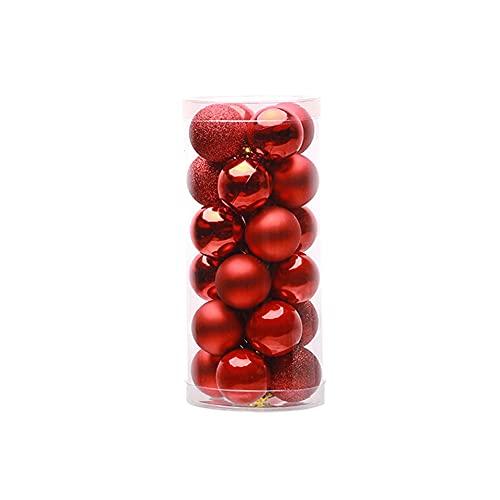 24 PZ 4 cm 6 cm 8 cm Moderno Brillante Albero di Natale Palline Partito Matrimonio Appeso Ornamento Decorazione di Natale Forniture
